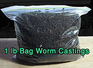 """Worm Castings 1lb Bag\"""