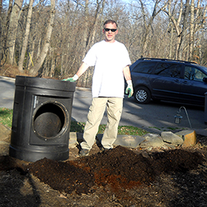 Pouring out Compost