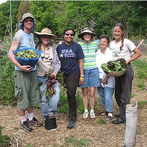 Susana Visiting At Heathcote's No Till Organic Garden