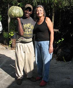 Cecil, Renee, and Seminole Pumpkin
